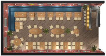 3д схема зала