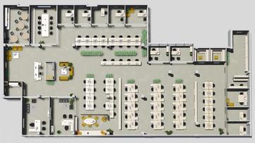 визуализация схемы здания этажа