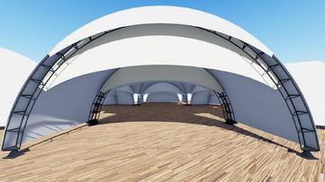3д визуализация шатра